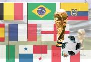Pack Banderas con palo Mundial Rusia 2018