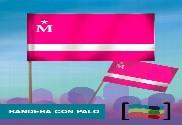 15 Banderas Moderdonia de mano con palo Tela
