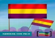 15 Banderas Republicanas de mano con palo de Tela