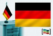 Bandeira da Alemanha toalha de mesa bordada