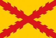 Bandeira de cetim estampada Tercios Morados Viejos