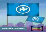 15 Banderas de mano con palo PP