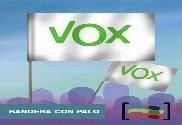 15 Banderas de mano con palo VOX