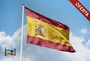 Pack: Steel floor mast (white) and Spain flag