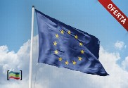 Pack: Steel floor mast (white) and European Union flag