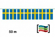 Banderines de plástico Suecia 50m