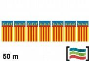 Plastic pennants Comunidad Valenciana 50m