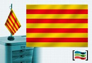 Drapeau Catalan brodé pour bureau