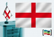 Bandera de Inglaterra sobremesa bordada