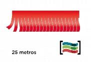 Tiras de flecos rojos