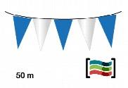 Banderines Azul y Blanco de plástico 50m