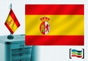 Tovaglia ricamata bandiera della Spagna 1785