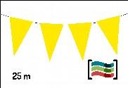Banderines amarillos 25m de plástico