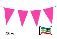Banderines rosas 25m de plástico