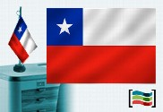 Bandeira do Chile Toalha de Mesa Bordada