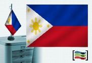 Bandiera delle Filippine tovaglia ricamata