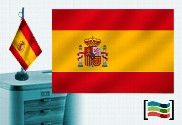 Flag of Spain embroidered table