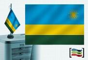Bandiera della Tovaglia ricamata del Ruanda