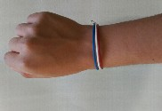 Bandera de Francia + pulsera