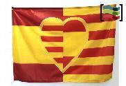 Bandera de Corazón español-catalan