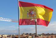 Drapeau de la Espagne bouclie...