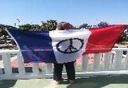 Drapeau France avec Tour Eiffel
