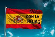 Bandera de España con la roja