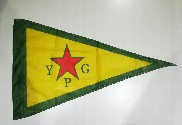 Bandera de YPG Kurdistán
