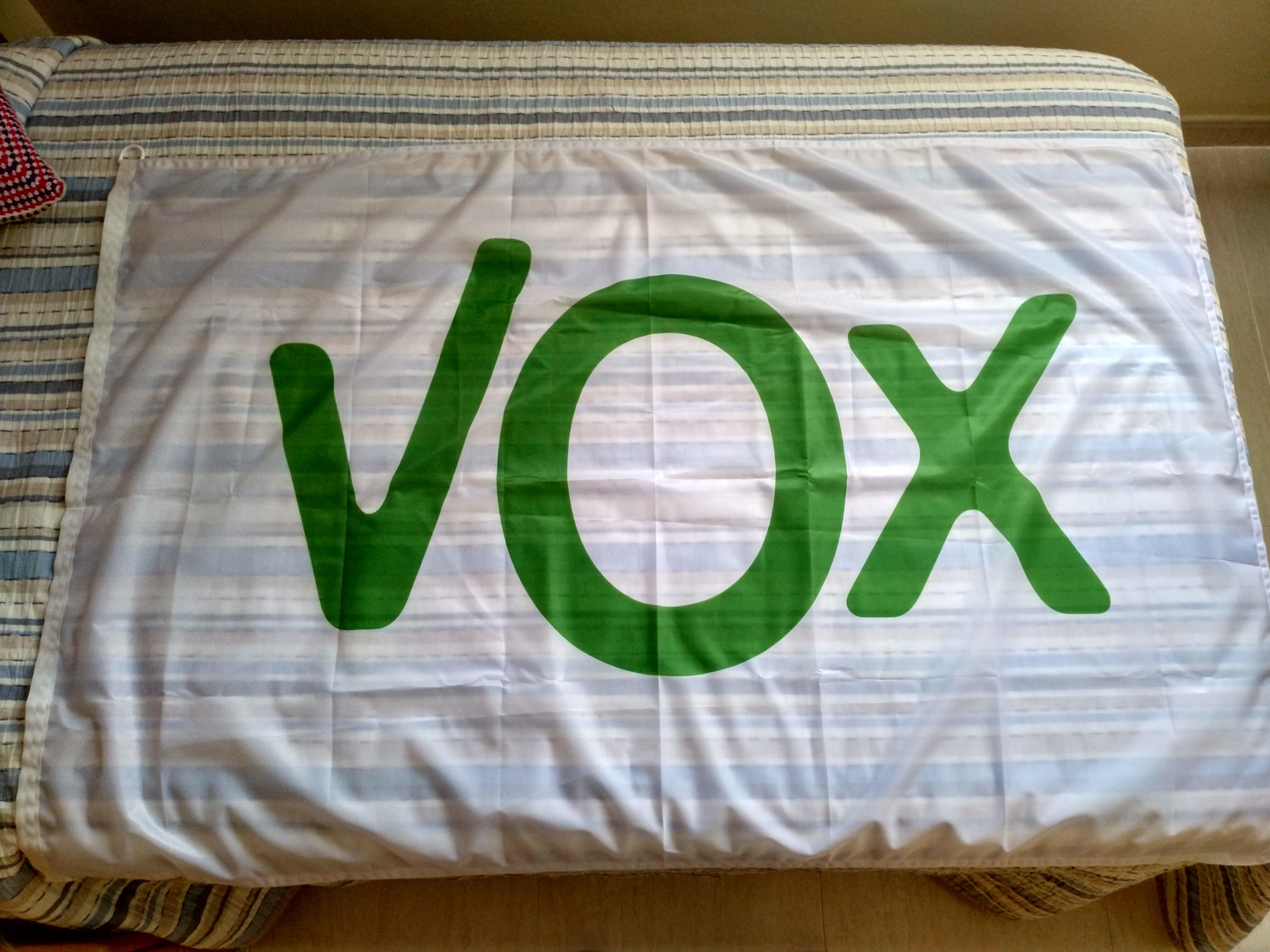 diseño de calidad 27026 f33b3 Bandera VOX