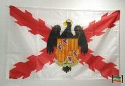 Bandera de Cruz de Borgoña y Escudo Reyes Católicos
