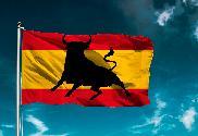 Bandera de España Toro salto