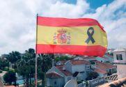 Bandera de España Crespón Negro