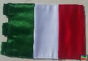 Bandera de Italia sobremesa bordada