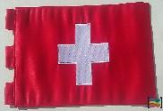 Bandera de Suiza sobremesa bordada