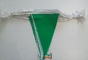 Banderines verde y blanco de plástico 50m